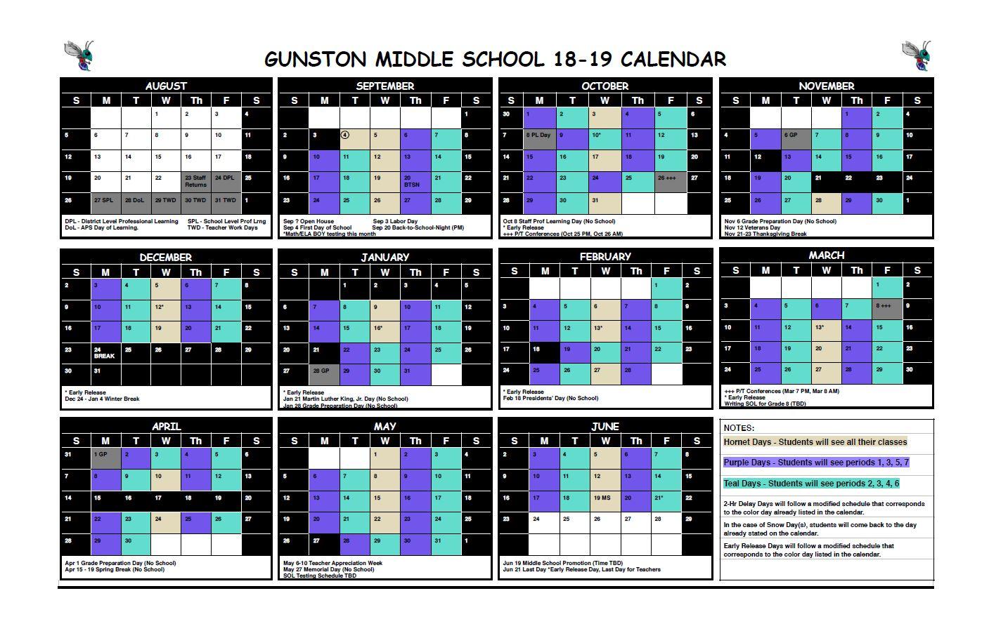 Block Schedule Calendar_2018-2019